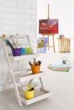 Creative shelf for stuff Royalty Free Stock Image