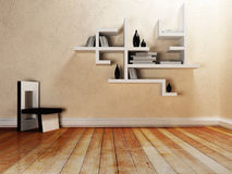 Creative shelves on the wall, Stock Images