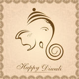 Creative shiny illustration of Hindu Lord Ganesha. Royalty Free Stock Photography