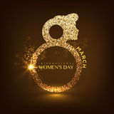 Creative shiny text for International Women's Day. Royalty Free Stock Image