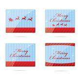 Creative and shiny xmas symbols set Royalty Free Stock Photo