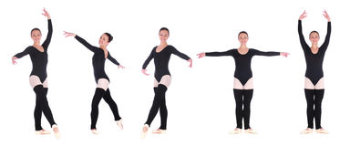 Creative shoot of five photos of ballerina Royalty Free Stock Images