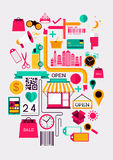 Creative Shopping Elements Stock Image