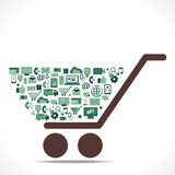 Creative shopping icon design cart Royalty Free Stock Photo