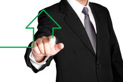 Creative sign of business man Stock Images