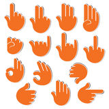 Creative sign or signal show by hand Stock Photos