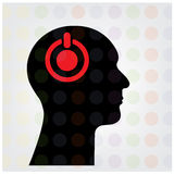 Creative silhouette head brain sign Royalty Free Stock Photo