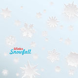 Creative snow template for christmas and winter Stock Image