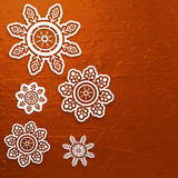 Creative snowflakes for Merry Christmas. Creative white snowflakes on stylish shiny background for Merry Christmas celebration royalty free illustration