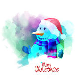Creative snowman for Merry Christmas. Royalty Free Stock Images