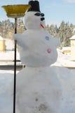 Creative snowman - winter Royalty Free Stock Photos