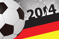 Creative Soccer Background Germany 2014 royalty free stock photo
