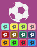 Creative Soccer Ball Icon. With color variations, vector Stock Image
