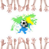 Creative Soccer Design stock photo