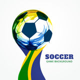 Creative soccer design Stock Photography