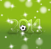 Creative 2014 Soccer Design. Creative Image Design Royalty Free Illustration