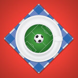 Creative Soccer / Football Background. Vector Illustration In Fr Royalty Free Stock Photography