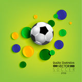Creative Soccer Football Sport Vector Illustration. Design Royalty Free Stock Images