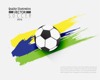 Creative Soccer Football Sport Vector Illustration. Design Stock Photos