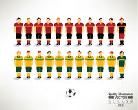 Creative Soccer Football Team Design Illustration Stock Photography