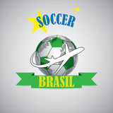 Creative soccer symbol of a ball Royalty Free Stock Image