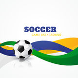 Creative soccer vector background Royalty Free Stock Photo
