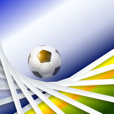 Creative Soccer Vector Design Stock Image
