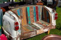 Creative sofa made from a vintage car Stock Image