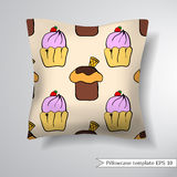Creative Sofa Square Pillow. Royalty Free Stock Images