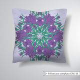 Creative sofa square pillow. Royalty Free Stock Photography