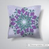 Creative sofa square pillow. Stock Image