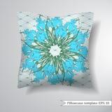Creative sofa square pillow. Royalty Free Stock Image