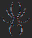 Creative spider design Royalty Free Stock Photography