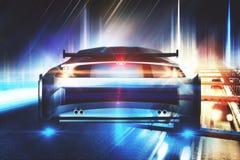 Creative sports car backdrop Royalty Free Stock Image