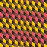 Creative square pattern background. Yellow and pink square pattern background Stock Photo