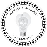 Creative stamp Day of the Dead Royalty Free Stock Image