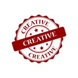 Creative stamp illustration Royalty Free Stock Images
