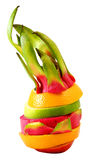Creative Standing mix colorful fruit Stock Image