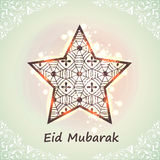 Creative star for Eid Mubarak celebration. Royalty Free Stock Images