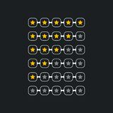 Creative star rating symbol for black theme. Vector Stock Photo