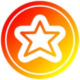 A creative star shape in hot gradient spectrum. An original creative star shape in hot gradient spectrum royalty free illustration