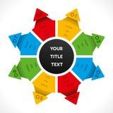 Creative star shape info-graphics design Royalty Free Stock Photos