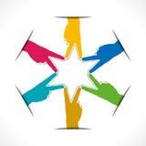 Creative star shape Stock Image
