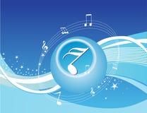 Creative stars music background in blue Stock Photo