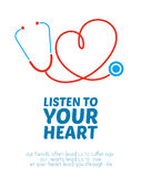 Creative stethoscope illustration Stock Photos