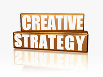 Creative strategy - golden blocks Royalty Free Stock Image