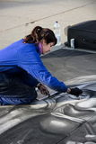 Creative street pavement artist  Royalty Free Stock Image