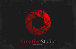 Creative studio logo design. Camera .  . Shutter Stock Photo