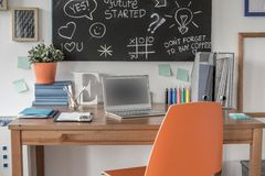 Creative study space Stock Photo