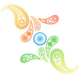 Creative style indian flag Stock Image